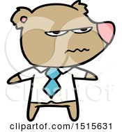 Cartoon Angry Boss Bear by lineartestpilot