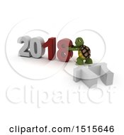 3d New Year 2018 With A Tortoise