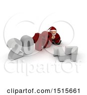 3d New Year 2018 With Santa Claus