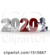 3d New Year 2020 With A Robot