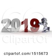 3d New Year 2019 With A Robot