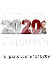Clipart Of A 3d New Year 2020 With An Elf Royalty Free Illustration