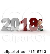 December 14th, 2017: Clipart Of A 3d New Year 2018 With An Elf Royalty Free Illustration by KJ Pargeter