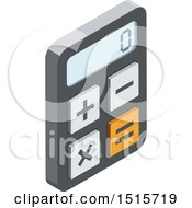 Clipart Of A 3d Isometric Calculator Icon Royalty Free Vector Illustration by beboy
