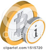 Clipart Of A 3d Isometric Bitcoin Information Financial Icon Royalty Free Vector Illustration by beboy