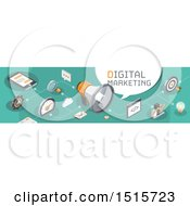 Clipart Of A Digital Marketing Website Banner Royalty Free Vector Illustration by beboy
