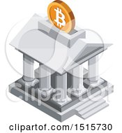 December 15th, 2017: Clipart Of A 3d Isometric Bitcoin Bank Financial Icon Royalty Free Vector Illustration by beboy