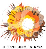 Clipart Of A Bomb Explosion Royalty Free Vector Illustration