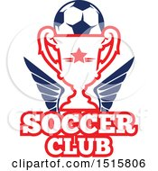 December 16th, 2017: Clipart Of A Red White And Blue Soccer Ball Design Royalty Free Vector Illustration by Vector Tradition SM