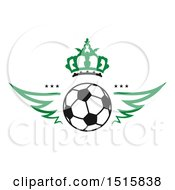Clipart Of A Soccer Ball Design With Wings And Crown Royalty Free Vector Illustration by Vector Tradition SM