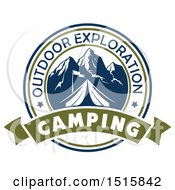 December 16th, 2017: Clipart Of A Camping Design With A Tent Mountains And Text Royalty Free Vector Illustration by Vector Tradition SM