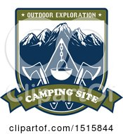Clipart Of A Camping Design With Text Royalty Free Vector Illustration