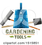 Clipart Of Text With Gardening Tools Royalty Free Vector Illustration by Vector Tradition SM