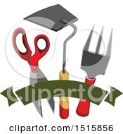 Clipart Of Gardening Tools Royalty Free Vector Illustration by Vector Tradition SM