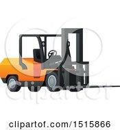 Clipart Of A Forklift Royalty Free Vector Illustration by Vector Tradition SM