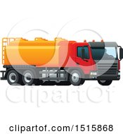 Clipart Of A Tanker Truck Royalty Free Vector Illustration by Vector Tradition SM