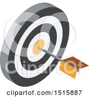 Clipart Of A 3d Icon Of A Dart In A Target Royalty Free Vector Illustration by beboy