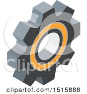 Clipart Of A 3d Icon Of A Gear Cog Wheel Royalty Free Vector Illustration by beboy