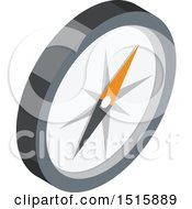 Clipart Of A 3d Icon Of A Compass Royalty Free Vector Illustration