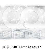 Christmas Background Of A 3d Snowy Landscape