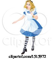 Clipart Of A Surprised Alice Royalty Free Vector Illustration by Pushkin