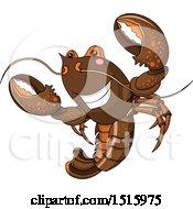 Cute Happy Lobster