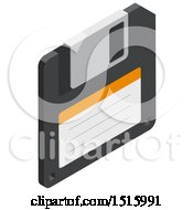 3d Isometric Floppy Disk Icon
