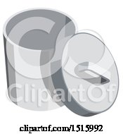 Clipart Of A 3d Isometric Trash Bin Icon Royalty Free Vector Illustration by beboy