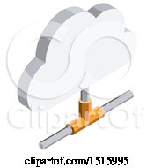 3d Isometric Cloud Icon