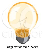 3d Isometric Light Bulb Icon