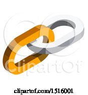 Clipart Of A 3d Isometric Links Icon Royalty Free Vector Illustration