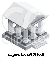 3d Isometric Bank Icon
