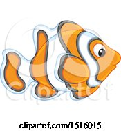 Clipart Of A Tropical Marine Anemone Fish Royalty Free Vector Illustration by Alex Bannykh