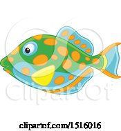 Clipart Of A Tropical Marine Fish Royalty Free Vector Illustration
