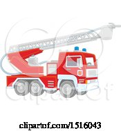 Clipart Of A Fire Engine Royalty Free Vector Illustration by Alex Bannykh