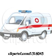 Clipart Of An Ambulance Royalty Free Vector Illustration by Alex Bannykh
