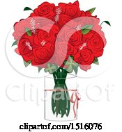 Poster, Art Print Of Red Rose Boquet In A Vase
