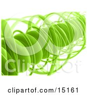 Green Complex Spiral Clipart Graphic Illustration by 3poD