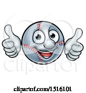 Clipart Of A Baseball Mascot Giving Two Thumbs Up Royalty Free Vector Illustration