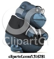 Clipart Of A 3d Business Gorilla Mascot On A White Background Royalty Free Illustration