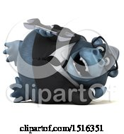 Clipart Of A 3d Business Gorilla Mascot Holding A Wrench On A White Background Royalty Free Illustration
