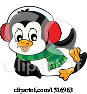 Clipart Of A Winter Penguin Royalty Free Vector Illustration