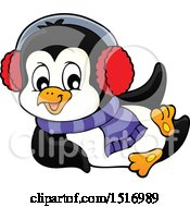 Clipart Of A Winter Penguin Royalty Free Vector Illustration by visekart