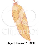 Clipart Of A Sea Eagle Head On A Feather Royalty Free Vector Illustration
