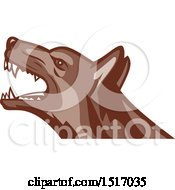 Clipart Of An Angry German Shepherd Guard Dog Royalty Free Vector Illustration