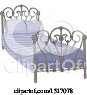 Bed With An Ornate Frame