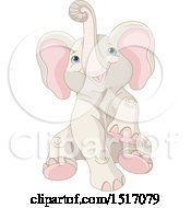 Clipart Of A Cute Baby Elephant Royalty Free Vector Illustration