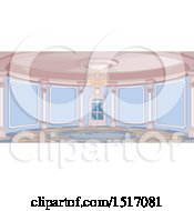 Clipart Of A Round Palace Interior Royalty Free Vector Illustration