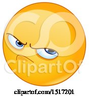 Clipart Of A Yellow Pissed Off Emoji Royalty Free Vector Illustration
