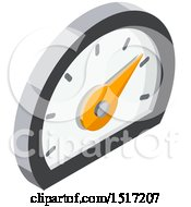 Clipart Of A 3d Meter Icon Royalty Free Vector Illustration